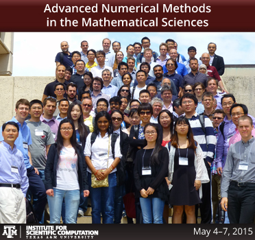 Advanced Numerical Methods in the Mathematical Sciences workshop group photograph taken on May 5, 2015.